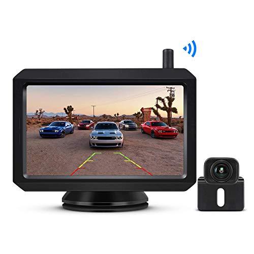 BOSCAM K7 Draadloze digitale achteruitrijcameraset met ingebouwde radiozender, 5 inch LCD-monitor, draadloze…