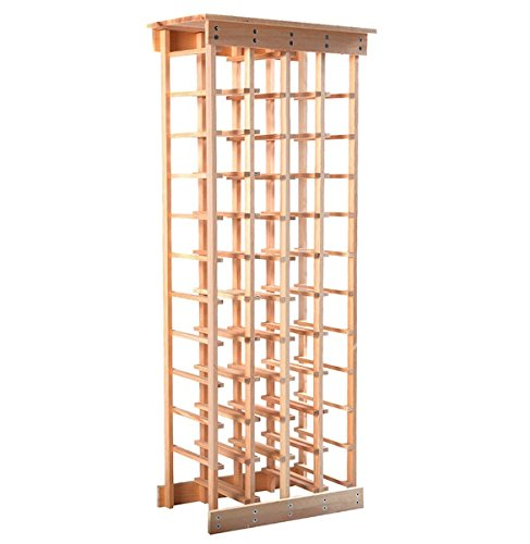 44 Bottles Wine Rack Free Standing Vertical Design 11 Tiers Wooden Shelves Storage Display Home Kitchen Décor Natural Pinewood - Best Buy Square Union Number