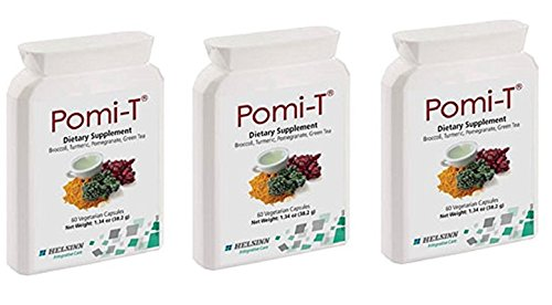 Pomi-T Polyphenol Food Supplement 60 Capsules (Pack of 3) by PomiT (Image #1)