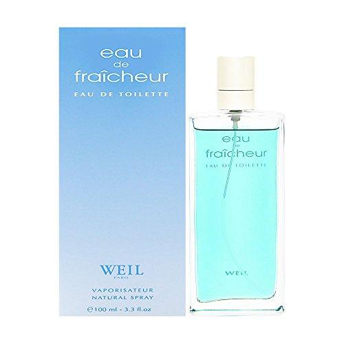 Eau de Fraicheur by Weil for Women 3.3 oz Eau de Toilette Spray (Fraicheur Spray Eau De Toilette)