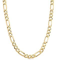 Miabella brings you the finest in modern and classic design. Make a cool statement with this bold 925 sterling silver 7mm Figaro link chain. A rich style ready to be worn with absolutely everything. Made in Italy