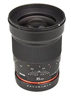 Bower SLY3514C Ultra Fast Wide-Angle 35mm f/1.4 Lens for Canon (B004QXUKHK) | Amazon price tracker / tracking, Amazon price history charts, Amazon price watches, Amazon price drop alerts