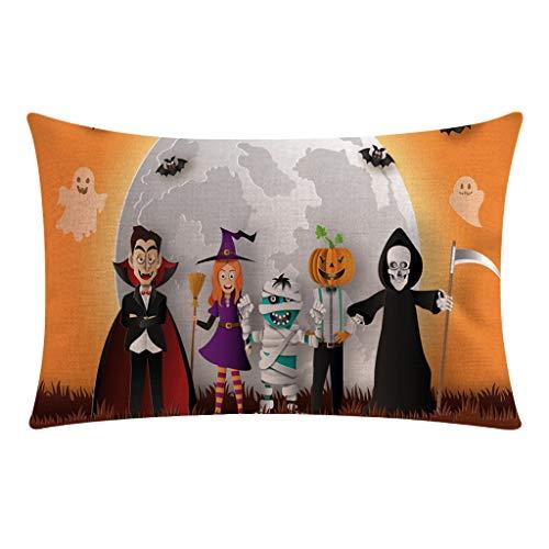 Halloween Pillowcase Dress Patterns (GREFER Pillow Case Funny Pattern Rectangle Home Decorations Halloween Pillowcases Throw Pillow Covers 12