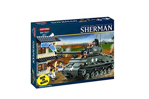 (Oxford 767 Piece Sherman M4A3E8 Easy 8 Tank Building Block Set)