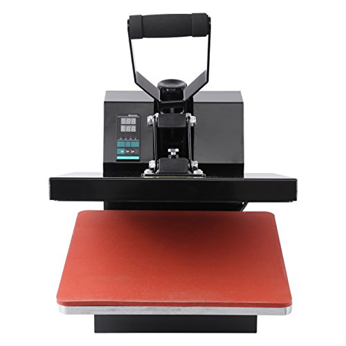 Iglobalbuy 15'' x 15'' Black Sublimation Heat Transfer Press Machine Digital Clamshell T-Shirt Transfer Machine by Iglobalbuy