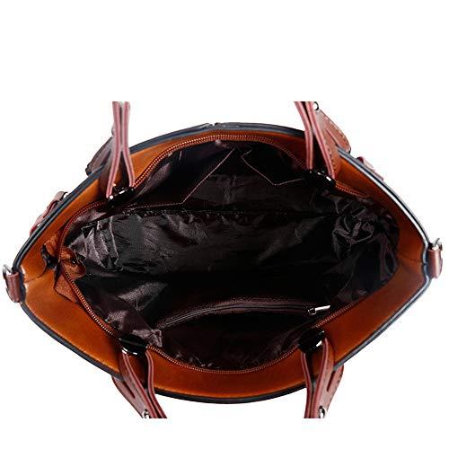 Sac Pour À Ordinateur Main Pour Messenger Bandoulière Marron Femmes Portable Couleur Sacs Sumferkyh Bag Marron EqvwazzT