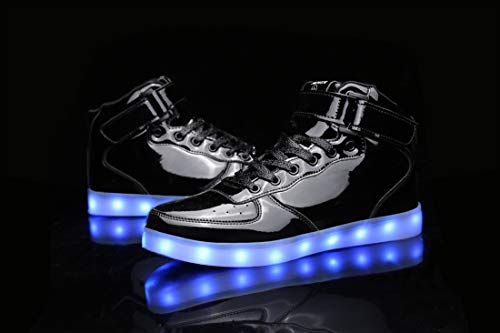 c2df5d605e MOHEM ShinyNight High Top LED Shoes Light Up Shoes USB Charging ...