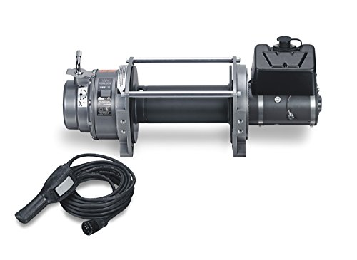 WARN 72005 Series 18 Vehicle Mounted 24V DC Industrial Electric Winch, 9 Ton (18,000 lb) Capacity
