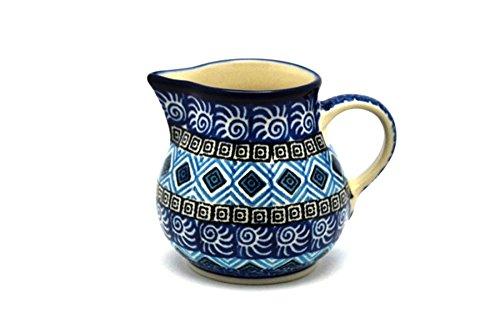 Polish Pottery Creamer - 4 oz. - Aztec Sky (Creamer Aztec)