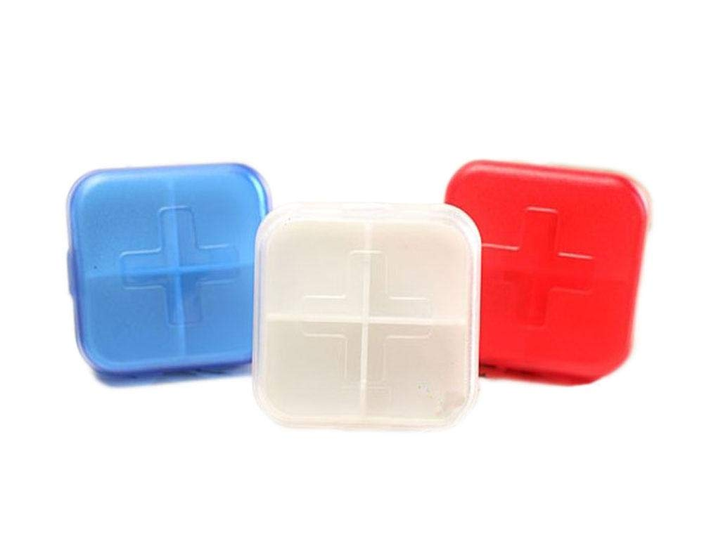 Set of 3 4 Solt Frosting Portable Pill Boxes,Home Travel Necessary