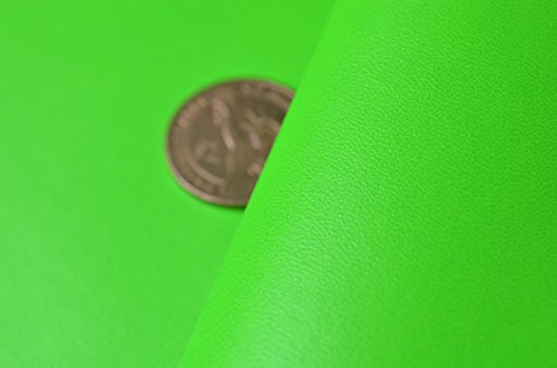Neon Solid Faux Leather Fabric for Home Decor Furniture Upholstery Application,bags/purses Crafting,zakka Fabric 54'' Wide,sold By Half Yard (Neon Green)