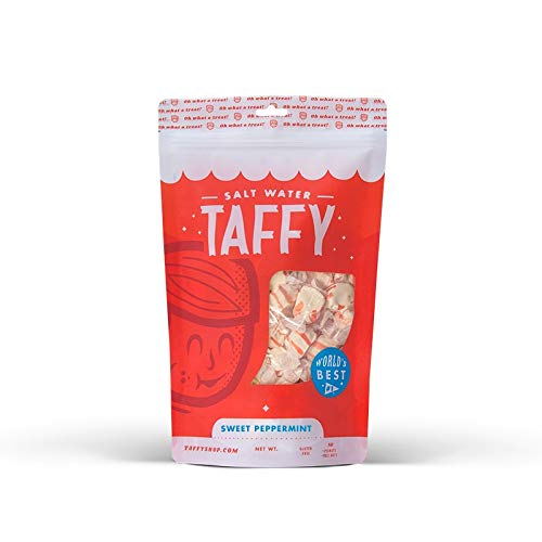 (Taffy Shop Sweet Peppermint Salt Water Taffy - 1 LB Bag)