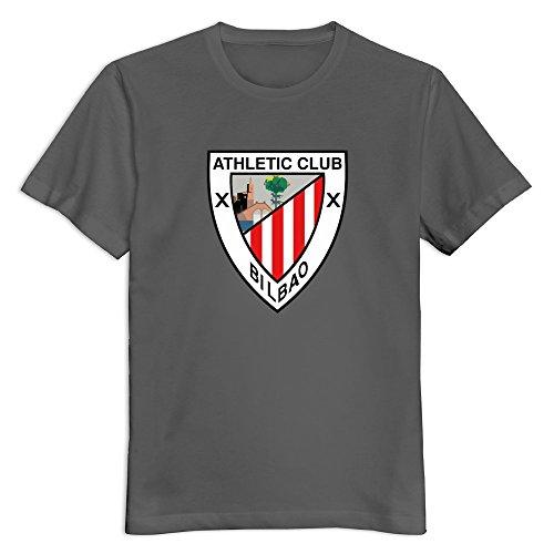 JOHNGBS Athletic Bilbao FC Logo Male T-Shirt Custom Style US Size XXL Color  DeepHeather 47a97506b7bc9