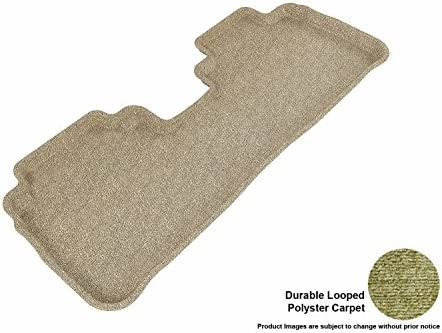 3D MAXpider Second Row Custom Fit Floor Mat for Select Nissan Murano ModelsClassic Carpet Tan
