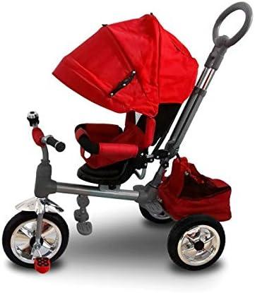 MWS LT 857 Triciclo con Pedales para bebés con Asiento Giratorio (Rojo)