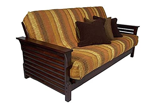 plantation dark cherry queen wall hugger futon frame by strata furniture amazon    plantation dark cherry queen wall hugger futon frame      rh   amazon