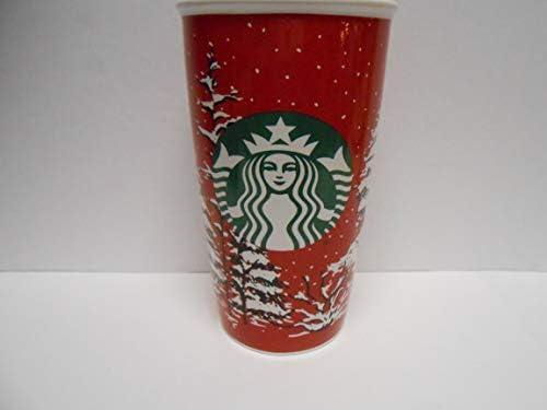 MugRed Double Wall Starbucks Christmas 12 Oz Travel Trees With Tl1c3FJK
