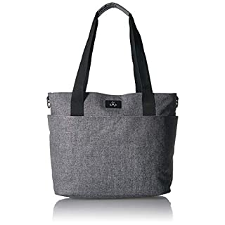 JuJuBe Encore Travel Diaper Tote Bag   Classic Collection   Lightweight, Everyday Diaper Bag for Travel   Graphite, One Size