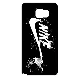Nike Logo Phone Case for Samsung Galaxy Note 5 Black Creative Nike Just Do It Customised Durable Phone Cover Case