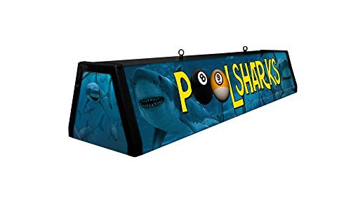 44' Acrylic Pool Table Light, Pool Sharks