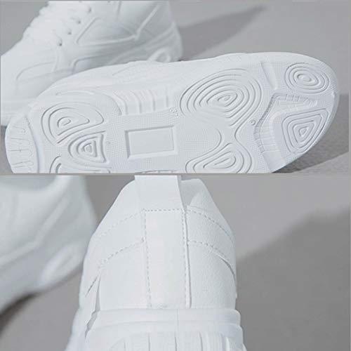 Stampa Women Casual Respirante Pigre Primavera Bianco Fitness Sneakers Scarpa Per Ihengh Shoes Ragazza Sport up Da Moda Ginnastica Breathable Running Lace Scarpe Estate Donna SEaqwUA