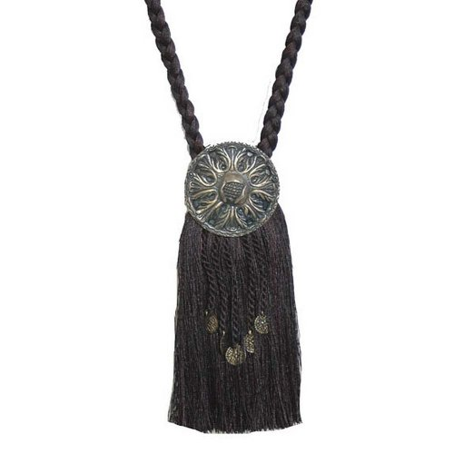 (India House 76725 Tieback Medallion Tassel, 9-Inch, Black Mix)