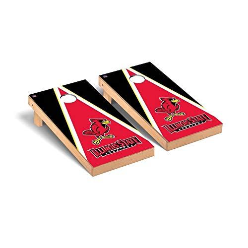 Victory Tailgate Regulation Collegiate NCAA Triangle Series Cornhole Board Set - 2 Boards, 8 Bags - Illinois State ISU Redbirds Red Verison ()