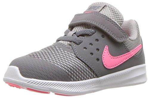 Nike Girls' Downshifter 7 (TDV) Running Shoe Gunsmoke/Sunset Pulse - Atmosphere Grey 5 M US Toddler