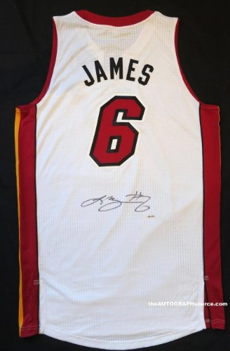 Lebron James Signed Miami Heat Jersey - White at Amazon s Sports ... fb1242c9b