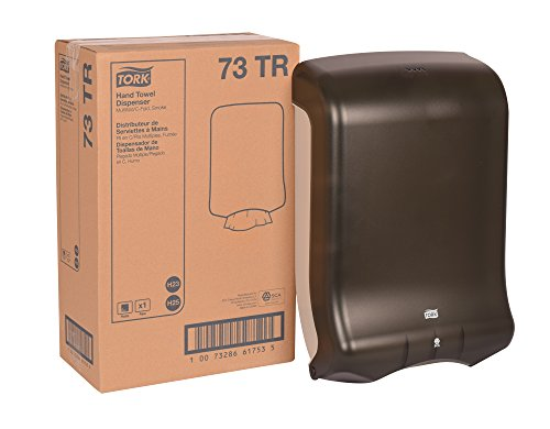 Tork 73TR Multifold and C-Fold Hand Towel Dispenser, Plastic, 18