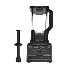 The Ninja Chef Blender features a 1500-watt advanced motor system, next-generation high-speed blade design, and Ninjas widest variable speed range, designed to power through tough ingredients and avoid bogging down. Choose between the 10 pre-...
