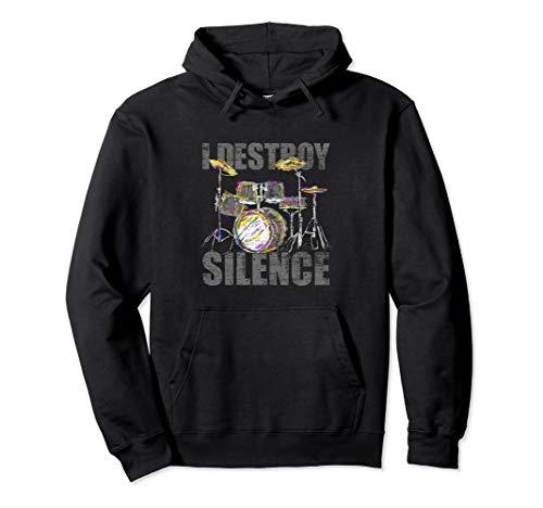 Drum Sweatshirt - Drums Hoodie - Music Drummer Musical Instrument Gift