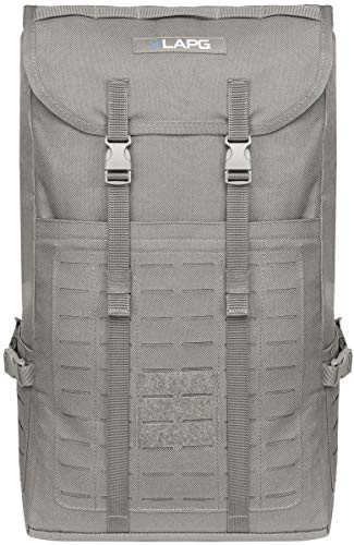 LA Police Gear Expedition Tough 600D Polyester Tactical MP Pack for Hunting, Camping, Hiking or EDC - Grey