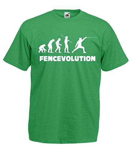 Fencing Evolution Verde T Fencer Maglietta Cheideastore Scherma Fencevolution shirt Uomo nqYBUHw6