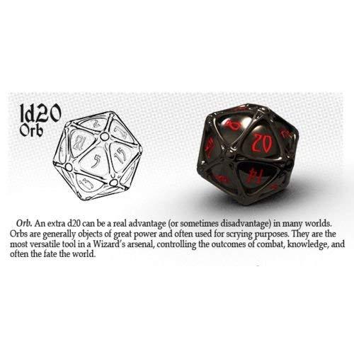 - PolyHero Dice: Wizard 1D20 Orb: Wizard Shadow/Demon's Eye