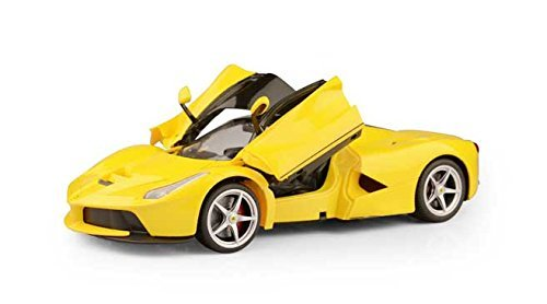 1/14 Scale Ferrari La Ferrari LaFerrari Radio Remote Control Model Car R/C RTR Open Doors (Yellow) by - With Model Ferrari