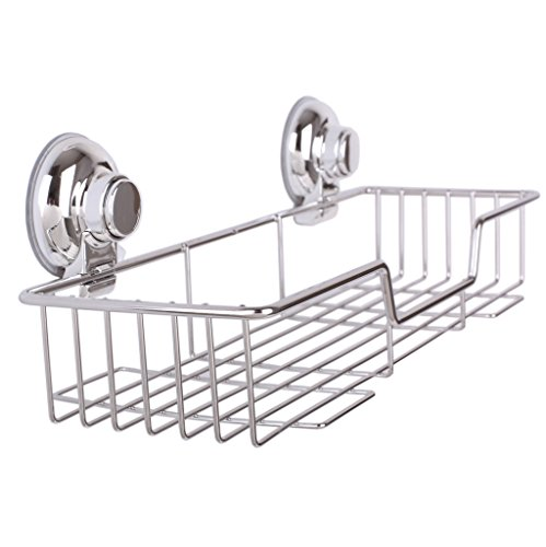ipegtop-rustproof-stainless-steel-shower-caddy-rectangle-basket-shampoo-holder-organizer-storage-for