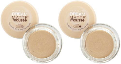 Maybelline Dream Matte Mousse Foundation - Nude - 2 pk ()