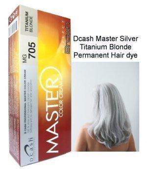 Dcash Master Permanent Hair Color Mg705 Titanium Blonde