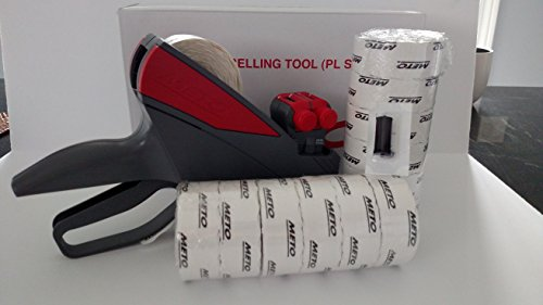 Meto 20.26/ 2 Line Price Labelgun, Value Pack, Pricing Gun,box Labels, Ink Roller by Meto