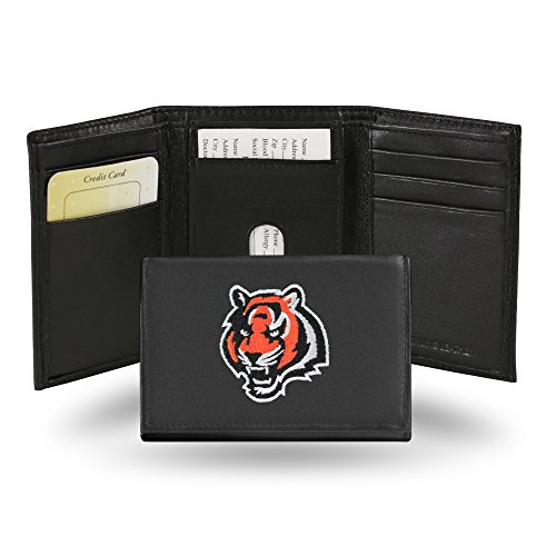 NFL Cincinnati Bengals Embroidered Genuine Cowhide Leather Trifold -