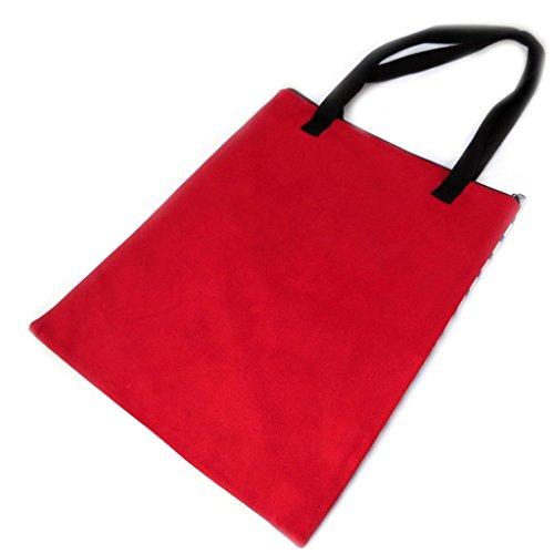 Shopping bag Tour Eiffel Tatouageblu bianco rosso - 43x34 cm.