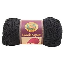 Lion Brand Yarn 545-153 Landscapes Yarn, Black