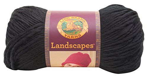 Lion Brand Yarn 545-153 Landscapes Yarn, Black