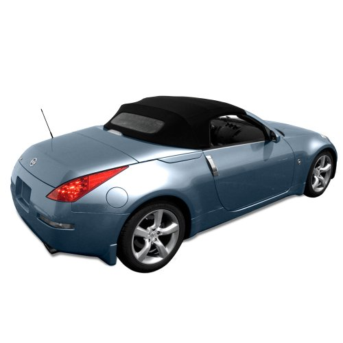 Convertible Tops Haartz (Nissan 350Z Convertible Top made from Haartz Stayfast Cloth with Heated Glass Window Black)