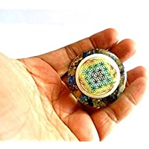 JET Mix Chakra Orgone Flower of Life Tower Buster Orgonite Piezo Electric EMF Protection Generator Frequency Ions Tested Cloud Chem Buster 40 Page Jet International Crystal Therapy Booklet