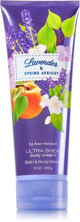 Bath & Body Works LAVENDER & SPRING APRICOT Deluxe Gift Set Lotion ~ Cream ~ Fragrance Mist ~ Shower Gel Lot of 4