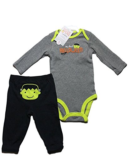 Carters Infant Boys My First Halloween Outfit Frankenstein Bodysuit & Pants 9 Months (First Halloween Outfit)