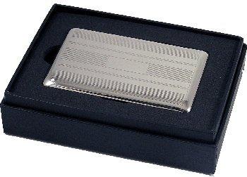 (Artamis Silver Tone Stripe Design Cigarette (7) Holder)