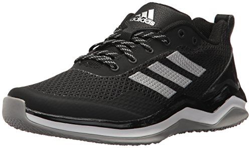 adidas Men's Freak X Carbon Mid Cross Trainer, Black/Metallic Silver/White, 6 Medium US Big Kid ()